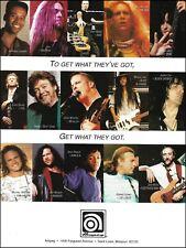 Ampeg Bass Guitar Amps 8 x 11 ad Pantera Alice in Chains Van Halen Metallica Yes