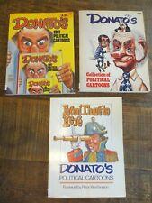 "3 Donato's Political Cartoon Books - ""signed"""