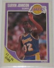 1989/90 Magic Johnson Los Angeles Lakers NBA Fleer F.T.% Avg. Leader Card #77 NM