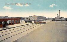 Missouri Mo Postcard c1910 SPRINGFIELD Frisco Railroad SHOPS Trains 1