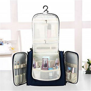 Blue -YP01 Hanging Toiletry Bag Travel Cosmetic Kit Large Essentials Organizer