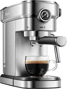 Brewsly 15 Bar Espresso Machine, Stainless Steel CM-6851