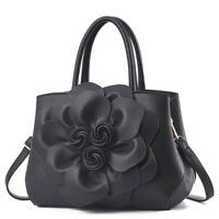 Damen Luxus Design Weiches Leder Damen Schulter Umhänge- Blumen Schultertasche