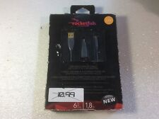Rocketfish - 6' USB Mini B Cable with 5-to-4 Pin Adapter - Multi Model: RF-PCC10