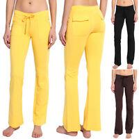 TheMOGAN BASIC TRACK FLARE LONG PANTS Lounge Gym Sports Sweat Yoga Trousers