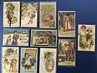 """11 Christmas Antique Postcards CHILDREN """"Made In Germany"""" UNPOSTED w Value"""
