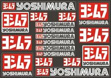 Yoshimura Decals Stickers for Exhaust Graphic Set Vinyl Adhesive 18 Pcs Carbon