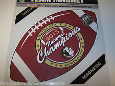 "Florida State Seminoles 12"" Car Magnet 2013 National BCS Champions NCAA Champs"