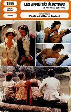 Movie Card. Fiche Cinéma. Les affinités électives (Italie/France) 1996 (R)