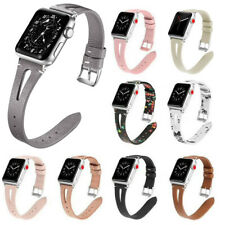 WOMEN Slim iWatch Strap Watch Band Floral Leather For Apple Watch Series 5/4/3/2