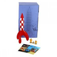 Pack de colección: El cohete lunar con las figuras de Tintín, Haddock y Milú