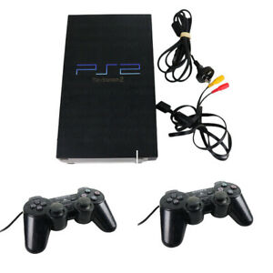 Sony PlayStation 2 PS2 FAT Console & 2 x Genuine Controller & Memory