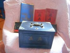 Vintage 1923 Mah Jongg Box Set With Instruction Books and Easels
