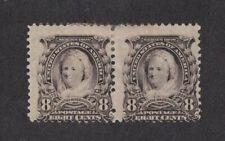 Scott 306 - Martha Washington 8 Cent. Pair. MH. OG.     #02 306