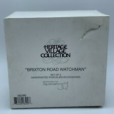 Department 56 Heritage Village Series -Brixton Road Watchman- Set Of 2