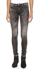 IRO.JEANS Iro Rita Skinny Midrise Jean in Stripe Black Grey Acid Wash $193 sz 29