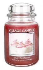 Village Candle Large Jar Premium Double Wick 26oz Cherry Vanilla Swirl Fragrance
