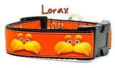 """Lorax dog collar handmade adjustable buckle collar 1"""" wide or leash"""