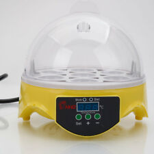 7 Egg Practical Incubator Hatcher Clear Digital Chicken Duck Bird Househould