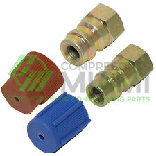 New A/C R-12 to R-134a Steel Retrofit Adapter Fitting Kit 1/4'' High 1/4'' Low