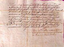 Document de Angles, Pedro Rubionet pour la Justice- 1753