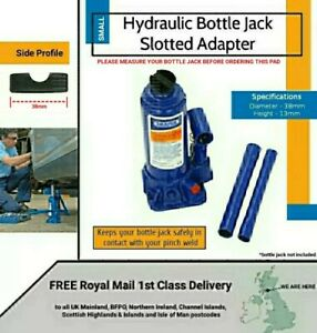 Hydraulic Bottle Jack Slotted Adapter Pad + FREE 1st Class Delivery included