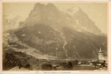A. Garcin, Suisse, Glacier inférieur de Grindelwald, ca.1880, vintage albumen pr