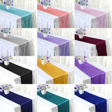 1/5/10pcs Satin Table Runner 12in×108in Wedding Banquet Party Event Decoration