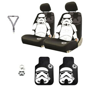 For NIissan Star Wars Stromtrooper 6PC Car Seat Covers Mats and Accessories Set