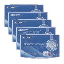 50X AZDENT Dental Orthodontic Ceramic Brackets MBT Slot .022 3-4-5 Hooks Marked