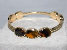 Faux Tortoise Shell Gold tone Round Bangle Bracelet 3b 35