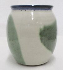 UNMARKED POTTERY BLUE & GREEN VASE