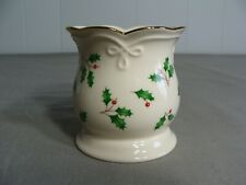 Lenox Footed Votive Candle Holder, Holiday Holly Pattern