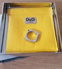 Ladies Stainless Steel D&G Ring with cubic zirconia stones. With pouch and box.