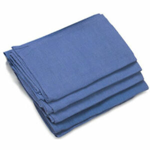 24 Pieces-NEW BLUE GLASS CLEANING HUCK/ SURGICAL/SHOP AND  DETAILING TOWELS