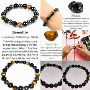 Handmade Healing Natural Gemstone Round Bead Stretch Bracelet Fashion Jewelry