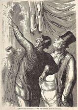 A l'exposition Universelle- Un vrai Cicérone: Gravure sur bois de Daumier