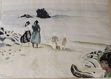 Axel Hennix 1905-1988, ein Tag am Meer, Aquarell, datiert 1952