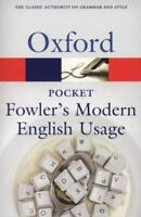 Pocket Fowler's Modern English Usage [Oxford Quick Reference]