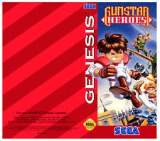Color Custom Manual GUNSTAR HEROES SEGA Mega Drive USA Version - AAA+++