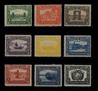 BOLIVIA - 1915 - GUIQUI TO LA PAZ RAILWAY UNISSUED COMPLETE SET OF 9 MINT
