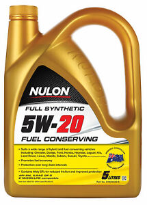Nulon Full Synthetic Fuel Conserving Engine Oil 5W-20 5L SYN5W20-5