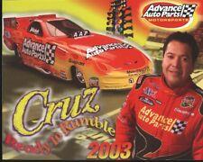2003 Cruz Pedregon Advance Auto Parts Pontiac Firebird Funny Car NHRA postcard