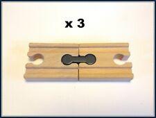 Thomas the tank engines wooden train track adaptor bits x 3  Fits Brio...new