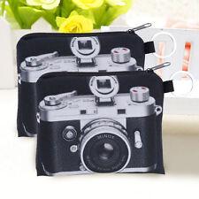 Camera Pattern Coin Purse Zipper Bag Key Wallet Pouch Purse Clutch 12*9.5cm New.