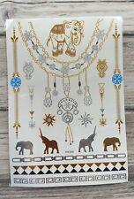 Silver Gold Metallic Temporary Flash Tattoo Body Henna Transfer Sticker /-b678-/