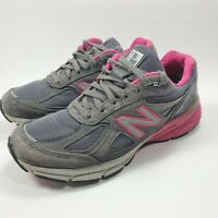 New Balance 990v4  Made in USA Gray & Pink Women's Athletic Running Shoes Sz 9.5