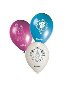 AMSCAN - PACK OF 8 FROZEN LATEX BALLOONS - HELIUM QUALITY