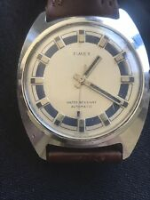 VINTAGE TIMEX AUTOMATIC MEN WATCH For Parts Or Repair NOT WORKING 36mm ! Rare