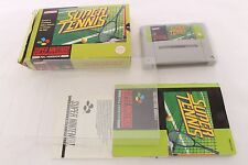Snes Super Nintendo Super Tennis Pal Game + Protector Cases